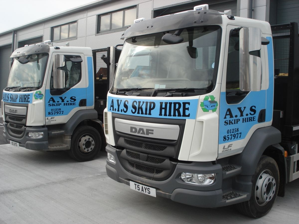 A Pair of Our Skip Delivery Trucks