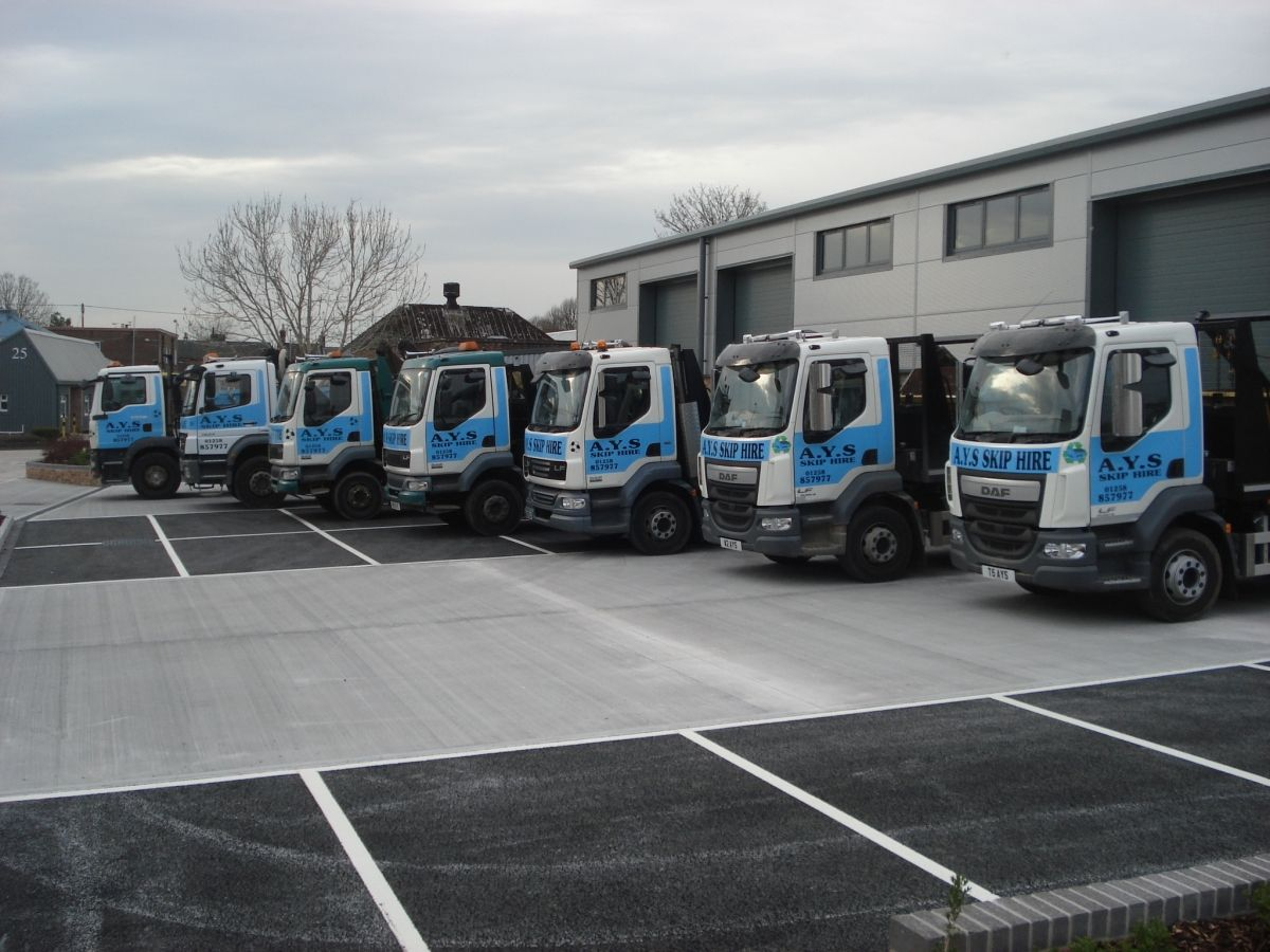 AYS Skip Hire Delivery Fleet