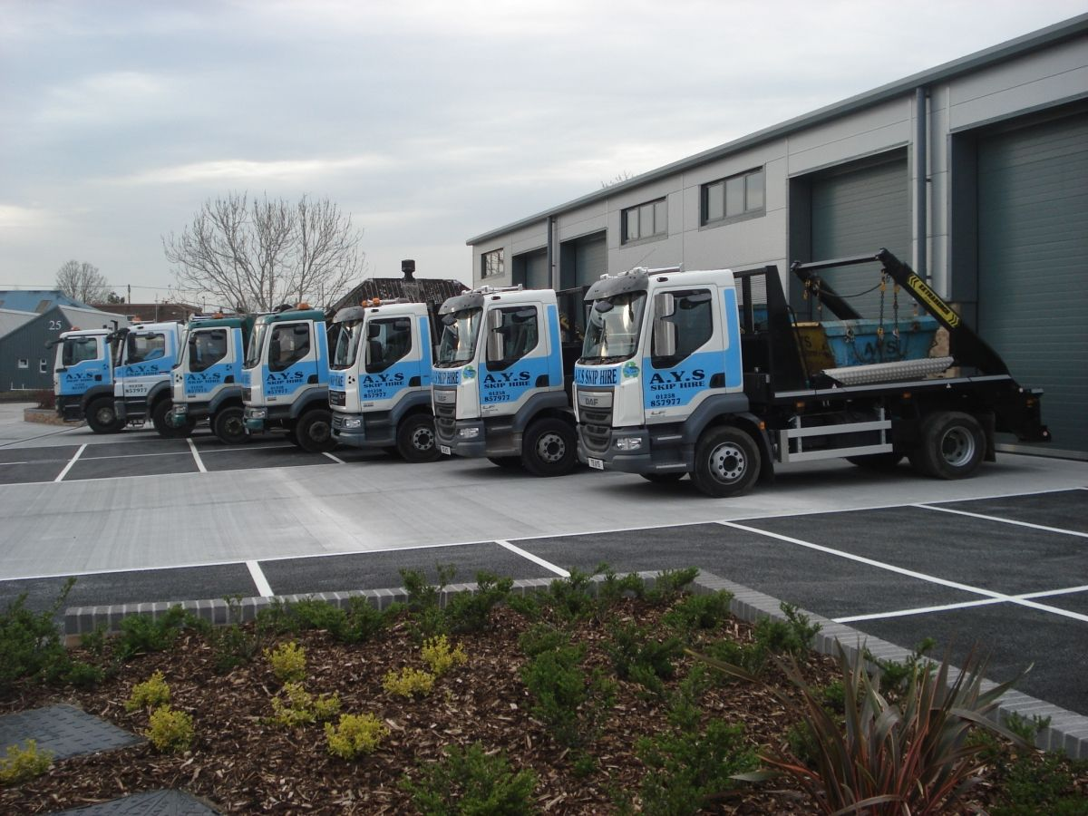 Our Skip Delivery Truck Fleet
