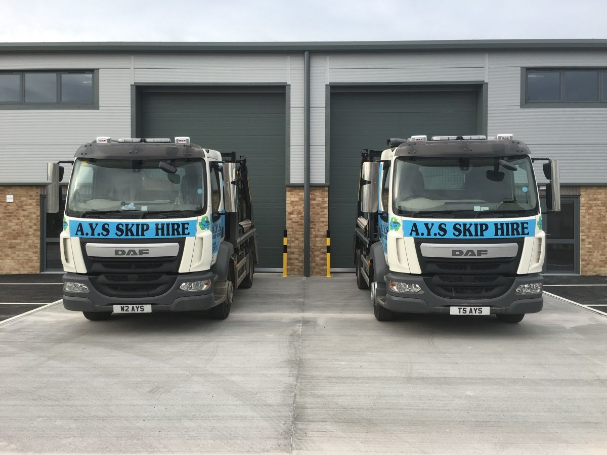 2 AYS Skip Hire Delivery Vehicles