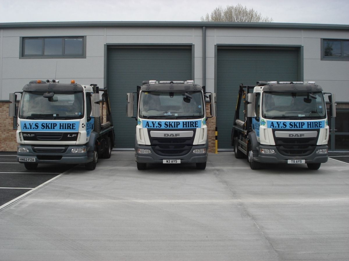 3 of Our Skip Delivery Vehicles