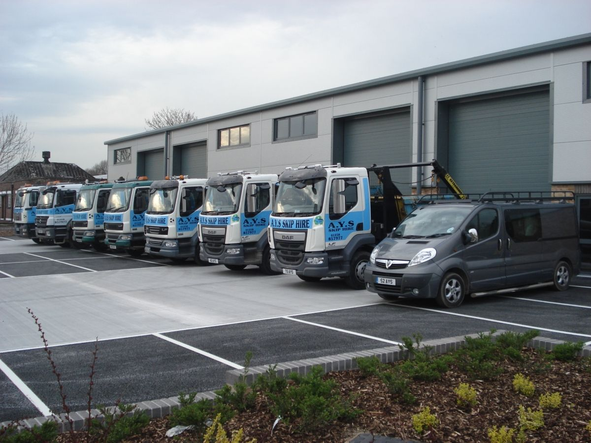 AYS Skip Hire HQ in Wimborne, Dorset